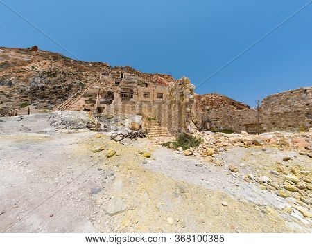 Old Sulphur Mines In Milos Island