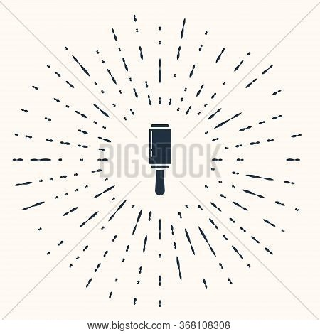 Grey Adhesive Roller For Cleaning Clothes Icon Isolated On Beige Background. Getting Rid Of Debris,
