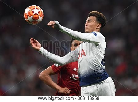Madrid, Spain - June 1, 2019: Dele Alli Of Tottenham Pictured During The 2018/19 Uefa Champions Leag