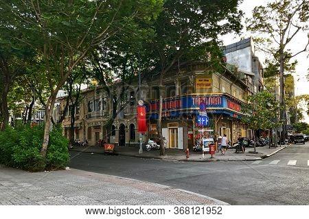 Ho Chi Minh City, Vietnam - February 9, 2019: Cityscape Of Ho Chi Minh City. Crossroads In The Histo