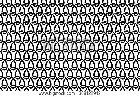 Weaving. Seamless Pattern With Weave Ornament. Textile Structure Grid. Steel Wire Mesh. Rope Weaving