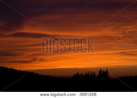 Smokey Oregon Sunset