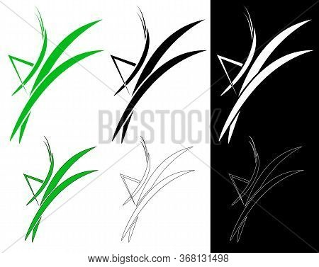 Grasshopper. Emblem, Grasshopper Icon On The Grass Denoting Environmentally Friendly Products: Food,