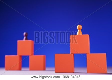 Success Building Concept. Personal Development, Personal And Career Growth, Progress And Potential.