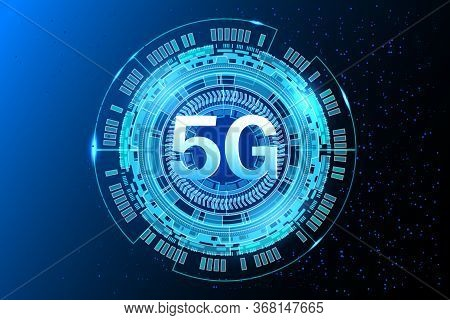 5g New Wireless Internet Connection.  Fifth Innovative Generation Of The Global High Speed Internet