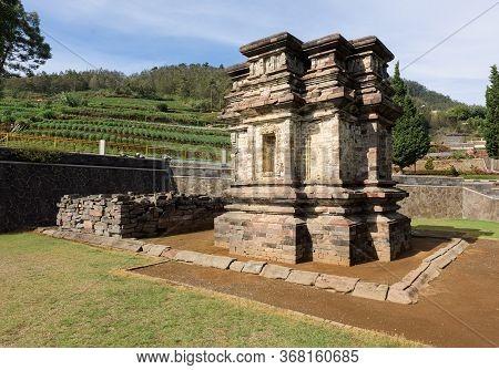 Candi Gatotkaca Hindu Temple, Near Arjuna Complex In Dieng Plateau, Central Java, Indonesia