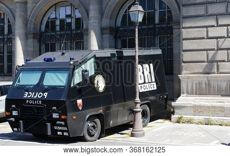 Paris, France - May 20, 2020 : The Armored Vehicles Bri Police -investigation And Intervention Briga