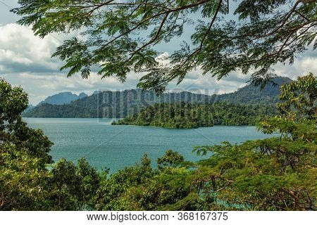 Cheow Lan Lake, Khao Sok National Park in southern Thailand