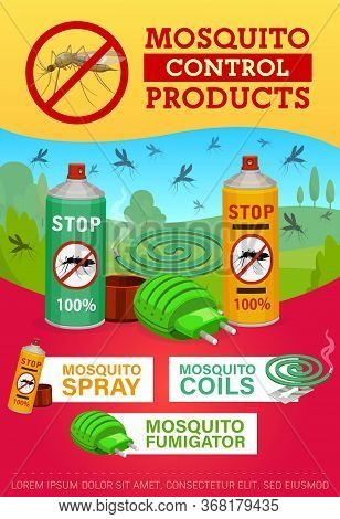 Pest Control, Mosquito Disinsection Repellents. Home Insects Disinsection And Health Protection. Mos