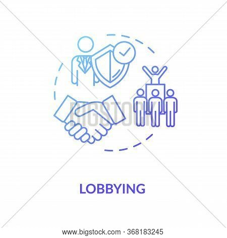 Lobbying Concept Icon. Social Interest Representation Idea Thin Line Illustration. Government Persua