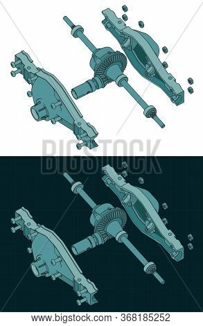 Differential Isometric Color Drawings