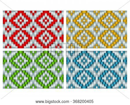 Beautiful Decorative Ethnic Woven (anyaman) Background Texture 17