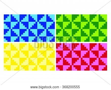 Flat Colorful Beautiful Decorative Ethnic Woven (anyaman) Background Texture 20
