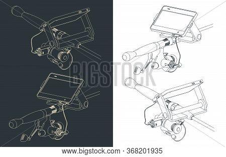 Telescopic Fishing Rod Spinning Sketch