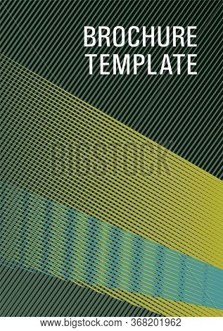Linear Geometry Poster Background Vector Template. Abstract Business Catalog Concept. Triangle Eleme