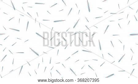 Endless Seamless Pattern Of Medical Scientific Medical Items Of Glass Mercury Thermometers For Measu