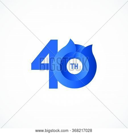 40 Th Anniversary Celebrations Vector Template Design Illustration