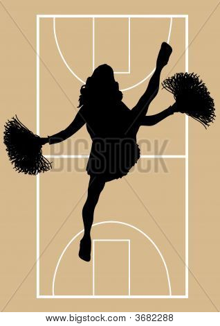 Basketball Cheerleader 5