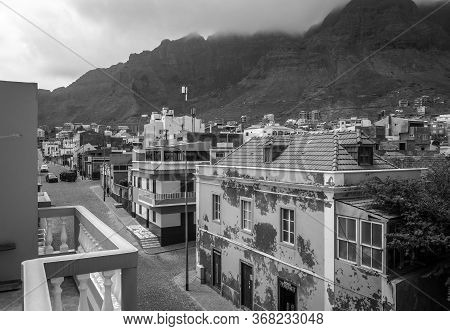 Ponta Do Sol/cape Verde - August 11, 2018 - Streets And Mountains View From The City In Santo Antao