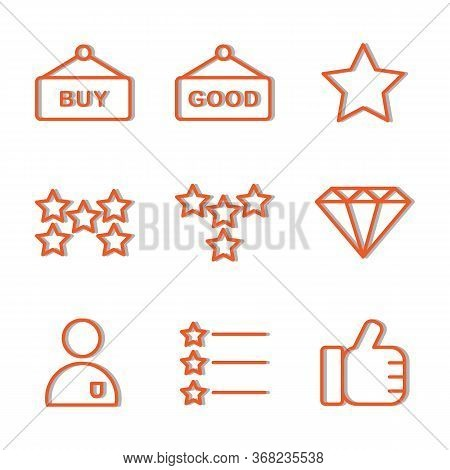 Marketplace Icon Set Include Board, Shop, Store, Buy, Good, Stars, Favorite, Marketplace, Reward, Di