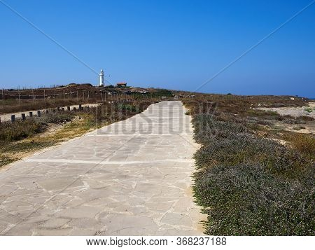 Famous Tourist Attraction Coastal Broadwalk Path Surrounding The Archaeological Park And Part Of Ope