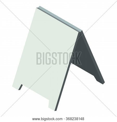 Add Street Board Icon. Isometric Of Add Street Board Vector Icon For Web Design Isolated On White Ba
