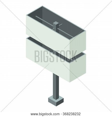 Full Advertise Pillar Icon. Isometric Of Full Advertise Pillar Vector Icon For Web Design Isolated O