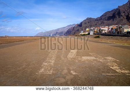 Old Abandoned Landing Runway In Ponta Do Sol, Santo Antao Island, Cape Verde, Africa