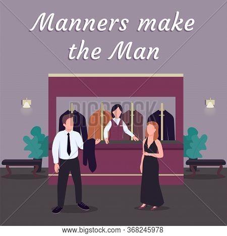 Casino Social Media Post Mockup. Manners Make Man Phrase. Web Banner Design Template. Luxury Establi