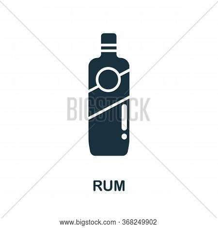 Rum Icon From Australia Collection. Simple Line Rum Icon For Templates, Web Design And Infographics