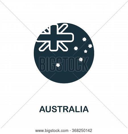 Australia Icon. Simple Line Element Australia Symbol For Templates, Web Design And Infographics