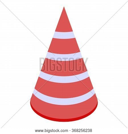 Office Party Head Cone Icon. Isometric Of Office Party Head Cone Vector Icon For Web Design Isolated