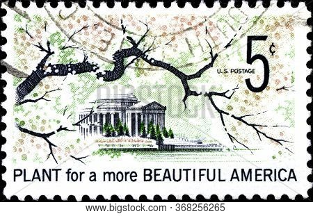 02.10.2020 Divnoe Stavropol Territory Russia The Postage Stamp United States 1966 Beautification Of