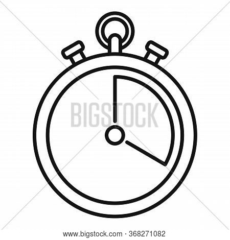 Soccer Stopwatch Icon. Outline Soccer Stopwatch Vector Icon For Web Design Isolated On White Backgro