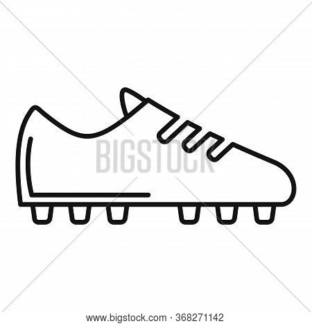Soccer Boot Icon. Outline Soccer Boot Vector Icon For Web Design Isolated On White Background