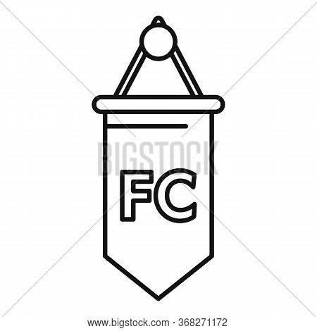 Soccer Team Emblem Flag Icon. Outline Soccer Team Emblem Flag Vector Icon For Web Design Isolated On