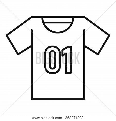 Soccer Player Tshirt Icon. Outline Soccer Player Tshirt Vector Icon For Web Design Isolated On White