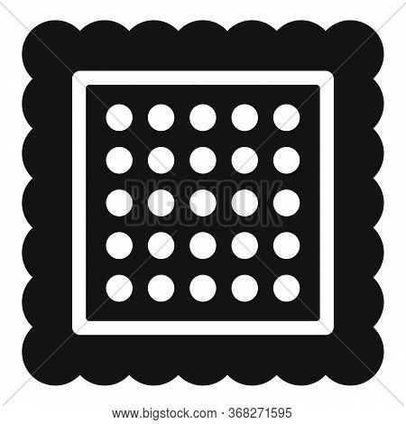 Square Cracker Icon. Simple Illustration Of Square Cracker Vector Icon For Web Design Isolated On Wh