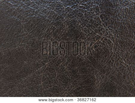 Black Textured Leather Background