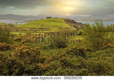 Spectacular Landscape Of Bantry Bay Near Ballylicky In County Cork, Ireland.