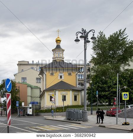 Moscow, Russia - 25 May 2020, Church Of The Nativity Of Saintchurch Of The Nativity Of Saint John Th