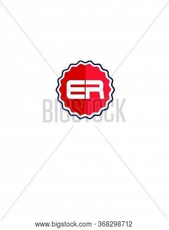 Er Circle Vintage Logo And Vector Icon