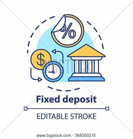 Savings Concept Icon. Fixed Deposit Idea Thin Line Illustration. Creating Investment Account. Gettin