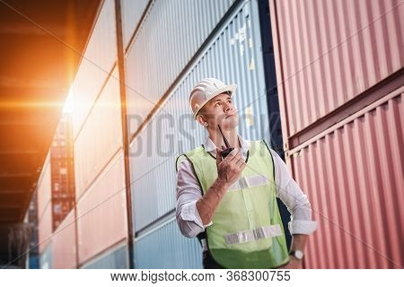 Container Logistics Shipping Management Of Transportation Industry, Transport Engineer Control Via W