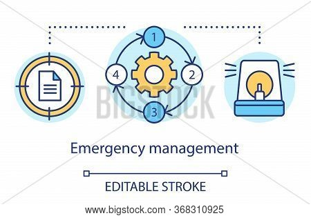 Emergency Management Concept Icon. Quick Response Service. Capacity To Cope With Hazards And Disaste