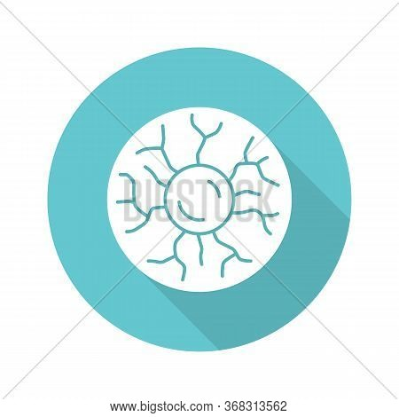 Plasma Physics Turquoise Flat Design Long Shadow Glyph Icon. High Energy State Of Matter. Astrophysi