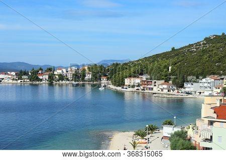 Klek, Croatia - September 8, 2016: This Is One Of The Smaller Croatian Resort Villages On The Adriat