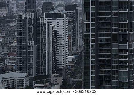 City Density Of Condominium And Office Building.