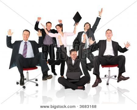 Happy Business Team Chair