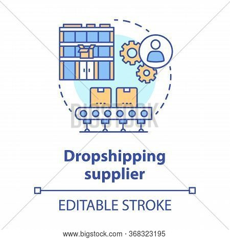 Dropshipping Supplier Concept Icon. Shipping Product To Customer Idea Thin Line Illustration. Online